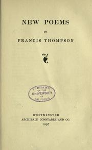 Cover of: New poems by Thompson, Francis