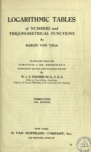 Logarithmisch-trigonometrisches Handbuch. by Vega, Georg Freiherr von