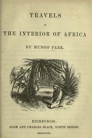 Travels in the Interior of Africa PDF