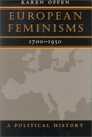 Cover of: European Feminisms, 1700-1950 by Karen Offen