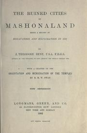 The ruined cities of Mashonaland by J. Theodore Bent