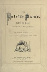 The land of the Pharaohs by Samuel Manning