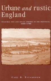 Urbane and rustic England PDF