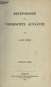 Kleinere Schriften by Brothers Grimm
