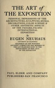 The art of the exposition by Neuhaus, Eugen