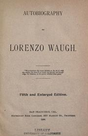 Autobiography of Lorenzo Waugh by Lorenzo Waugh