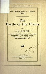 The battle of the Plains by Harper, J. M.