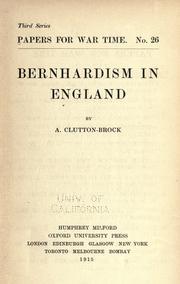 Bernhardism in England
