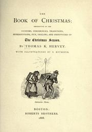 Cover of: The book of Christmas by Thomas Kibble Hervey