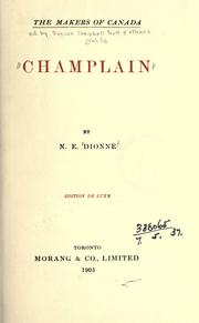 Champlain by Dionne, N.-E.