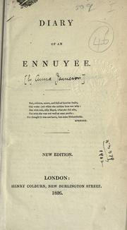 The diary of an ennuyée by Jameson Mrs.