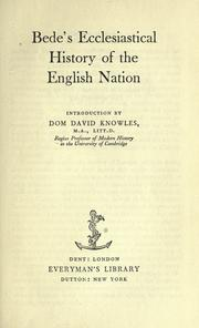 Cover of: Ecclesiastical history of the English nation by Bede the Venerable, Saint