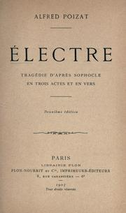 Cover of: Electre by Sophocles