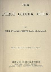 The first Greek book by White, John Williams