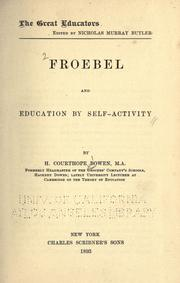 Froebel and education by self-activity by Herbert Courthope Bowen