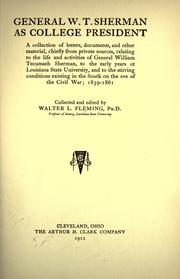 Cover of: General W.T. Sherman as college president by Fleming, Walter L.