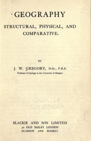 Geography, structural, physical, and comparative PDF