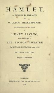 Cover of: Hamlet by William Shakespeare