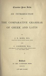 An introduction to the comparative grammar of Greek and Latin PDF