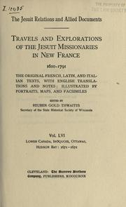Cover of: The Jesuit relations and allied documents by Jesuits.