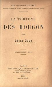 Cover of: La fortune des Rougon by Émile Zola