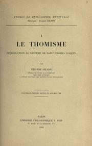 Le thomisme by Étienne Gilson