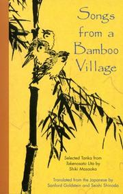 Songs from a bamboo village by Masaoka, Shiki