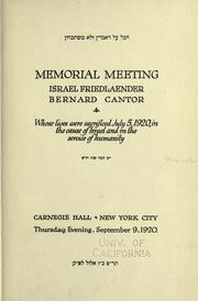 Memorial meeting PDF