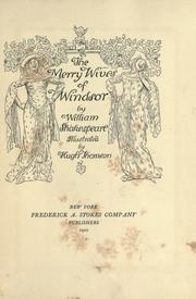 Merry wives of Windsor by William Shakespeare