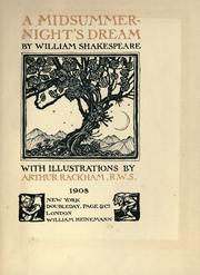 Cover of: A midsummer night's dream by William Shakespeare