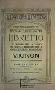 Mignon by Ambroise Thomas