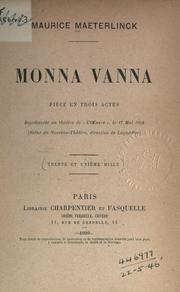 Monna Vanna by Maurice Maeterlinck