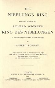 Cover of: The Nibelung&#39;s ring by Richard Wagner