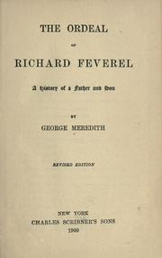 Cover of: The ordeal of Richard Feverel by George Meredith