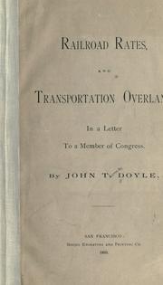 Railroad rates and transportation overland PDF
