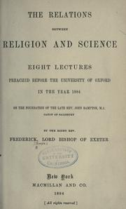 The relations between religion and science by Frederick Temple