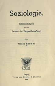 Soziologie by Georg Simmel