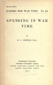 Spending in war time PDF