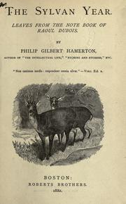 The sylvan year by Hamerton, Philip Gilbert