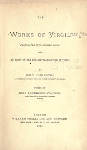 Cover of: The works of Virgil by Publius Vergilius Maro