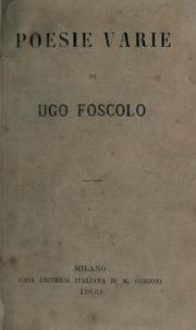 Poems by Ugo Foscolo