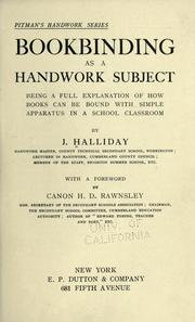 Bookbinding as a handwork subject PDF