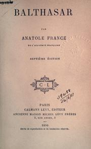 Balthasar by Anatole France