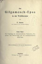 Das Gilgamesch-Epos in der Weltliteratur by Peter Christian Albrecht Jensen
