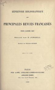 Repertoire bibliographique des principales revues françaises