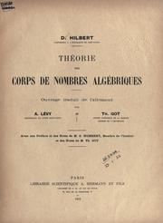 Thorie des corps de nombres algbriques by David Hilbert