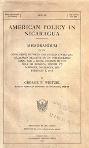American policy in Nicaragua PDF