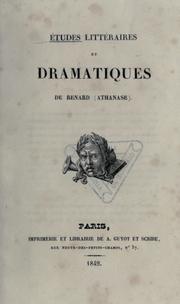 Études littéraires et dramatiques de Renard (Athanase).