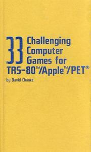 33 challenging computer games for TRS-80/Apple/PET PDF