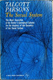 The social system by Talcott Parsons